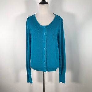 M Heather Turquoise Darby Cardigan 3169 Sweater